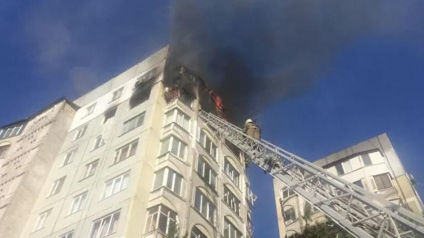 В Керчи ввели режим ЧС после пожара в многоэтажном доме