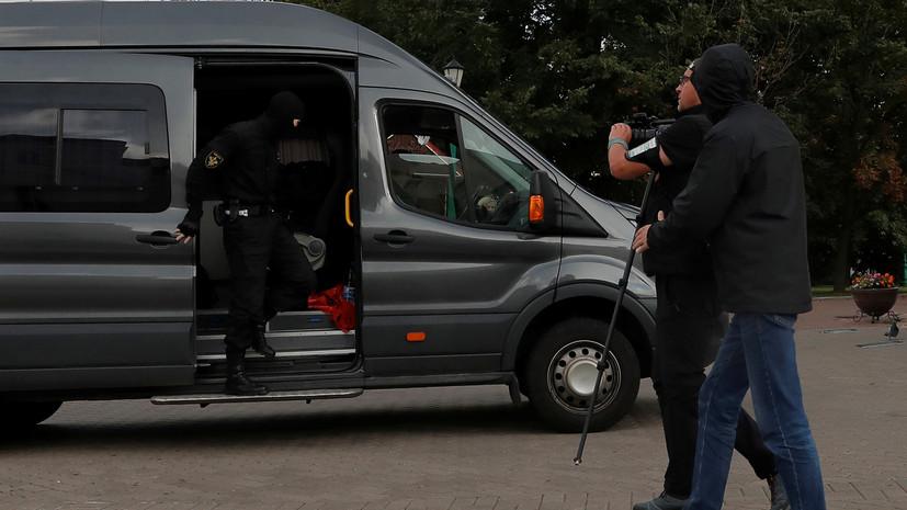В Минске милиция задержала ряд журналистов
