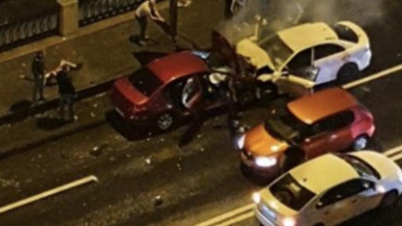 В Петербурге в результате ДТП пострадали пять человек