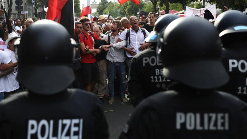 В полиции Берлина сообщили о десятках задержанных на акции протеста