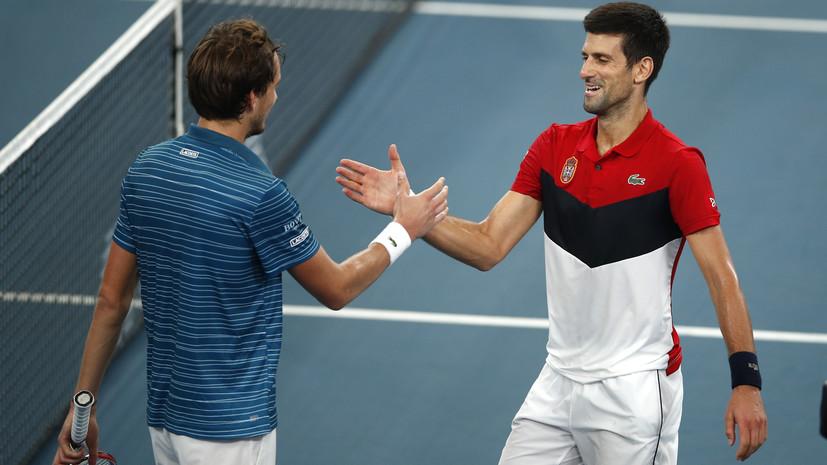 Медведев заявил, что  обдумает инициативу Джоковича после US Open