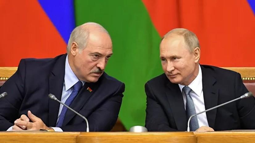 В Белоруссии сообщили о телефонном разговоре Путина и Лукашенко