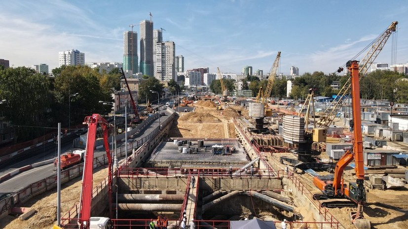 Собянин рассказал о ходе строительства БКЛ метро Москвы