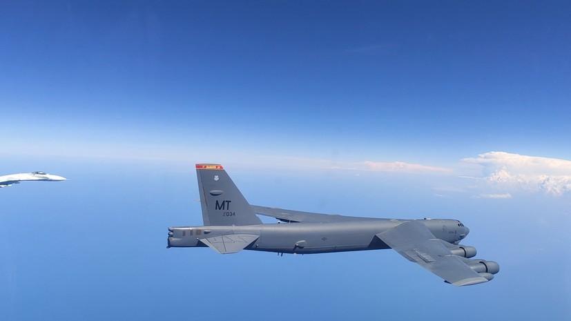 Су-27 сопровождали бомбардировщики ВВС США над Балтийским морем