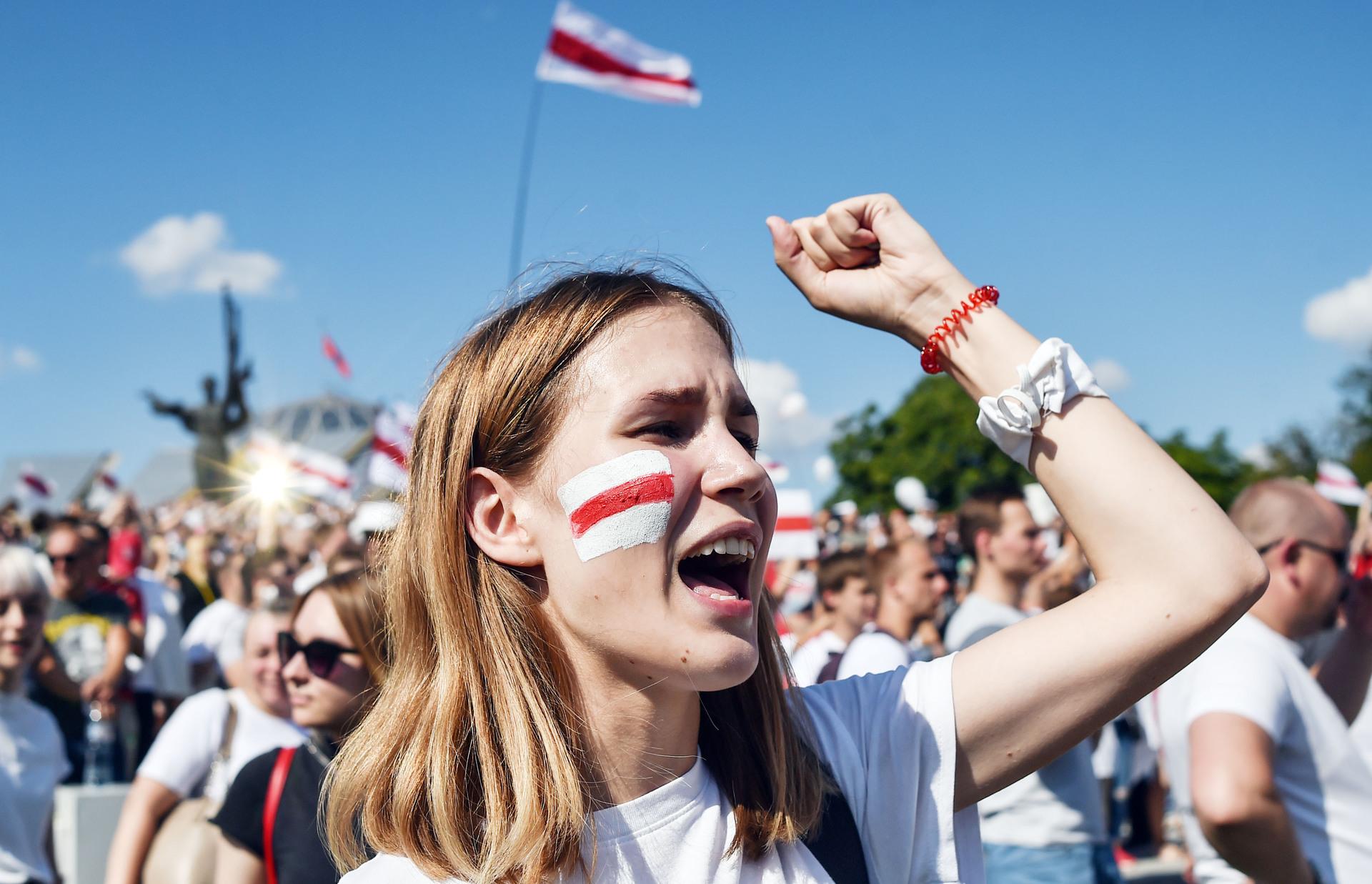 Как прошёл протестный митинг в Минске — РТ на русском