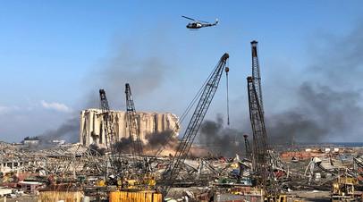 Зона бедствия: по меньшей мере 100 человек погибли при взрыве в порту Бейрута