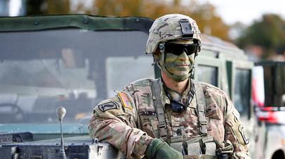 Военнослужащий США на учениях в Германии