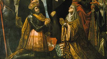 Литовский князь Ягайло и польская королева Ядвига
