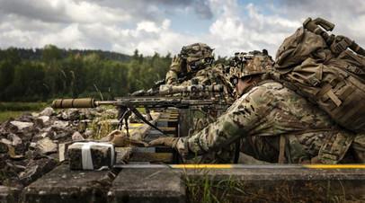 Американские военнослужащие на полигоне в Баварии
