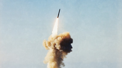Тестовый пуск ракеты Minuteman III с базы в Калифорнии