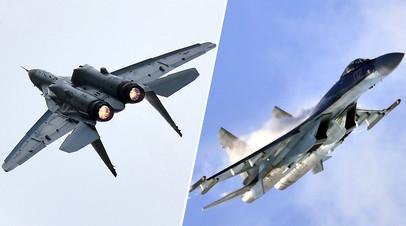Истребители МиГ-35 и Су-35