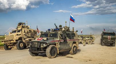«Пытались блокировать российский патруль»: Минобороны оценило инцидент с военными США в Сирии
