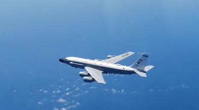Российский истребитель перехватил самолёт-разведчик США над Балтийским морем — видео