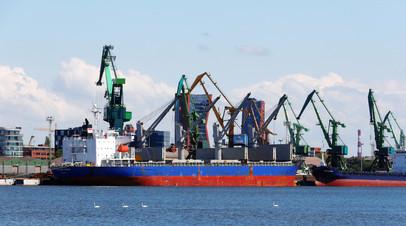 Клайпедский порт в Литве