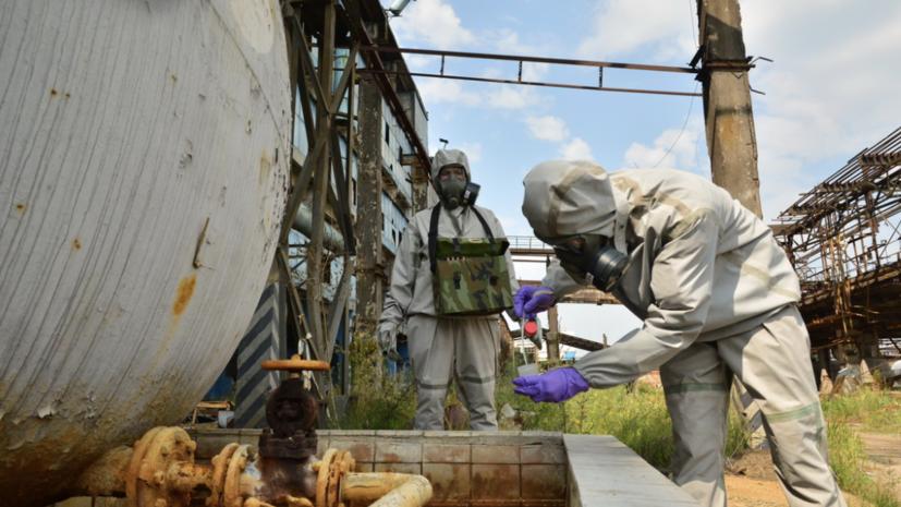 Отряд МО на учениях предотвратил утечку химотходов в Усолье-Сибирском