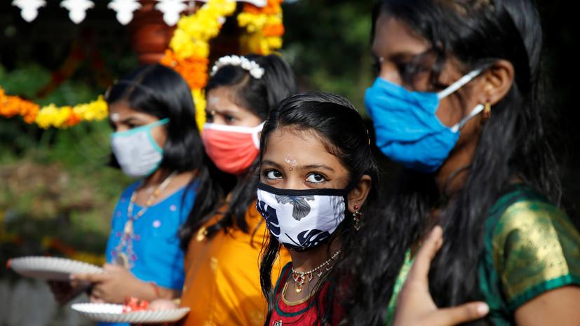 В Индии выявили почти 70 тысяч случаев коронавируса за сутки