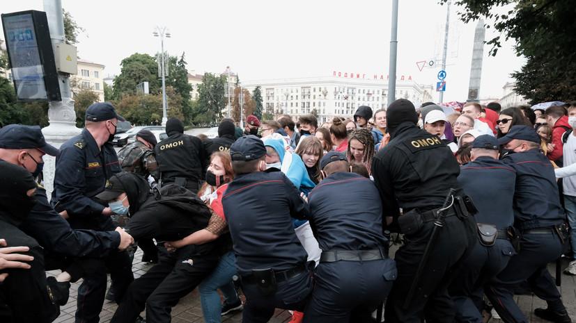 МВД Белоруссии сообщило о задержаниях на акциях протеста в Минске