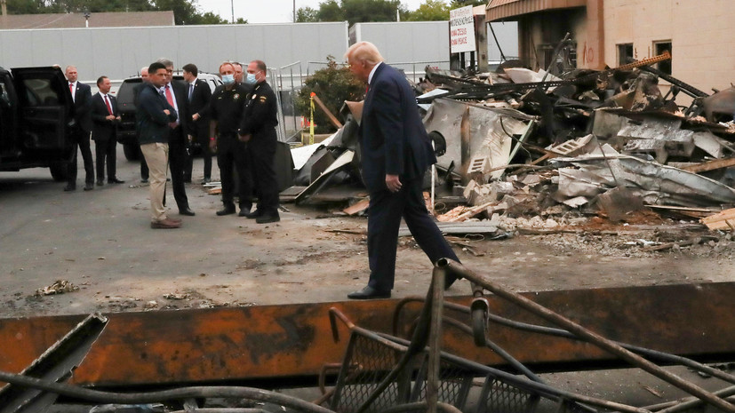 Трамп назвал беспорядки в США «антиамериканскими»