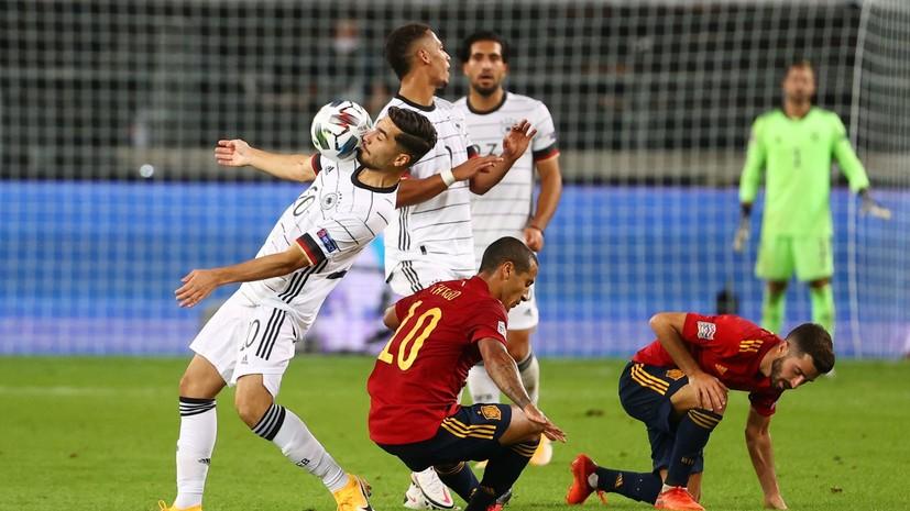 Мяч Гайя на последней минуте помог Испании сыграть вничью с Германией в матче Лиги наций