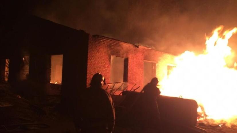 В Ростовской области рассказали подробности крупного пожара на складе