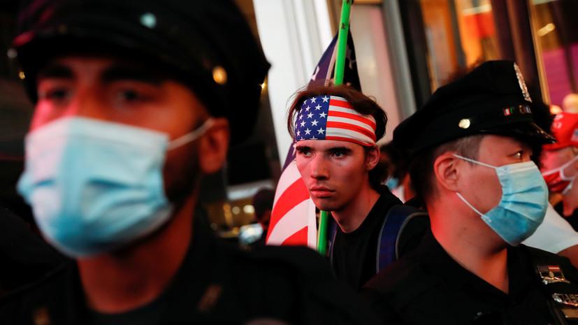 В американском Рочестере двое полицейских пострадали после протестов