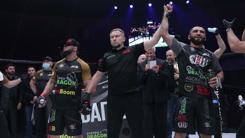 Абдулаев победил Багова и стал чемпионом ACA в полусреднем весе