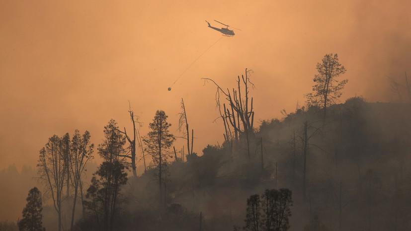 В Калифорнии эвакуируют людей из-за лесного пожара