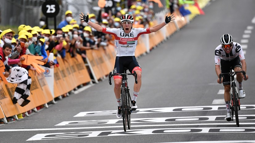 Погачар победил на девятом этапе «Тур де Франс»