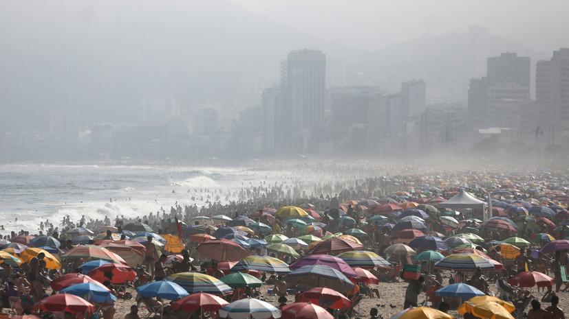 В Бразилии за сутки зафиксировано более 10 тысяч случаев COVID-19