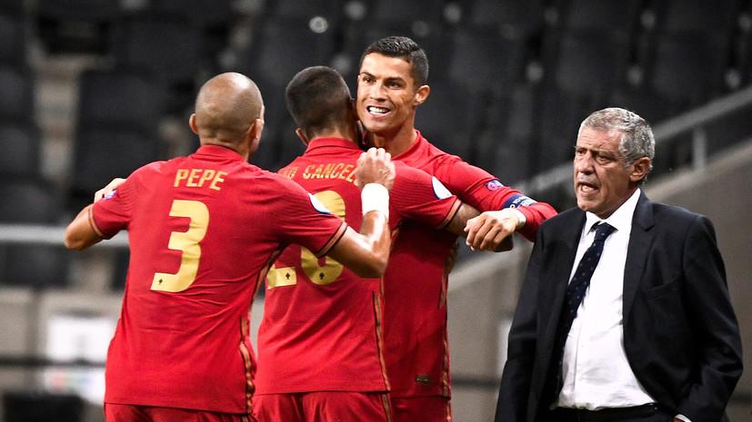 Дубль Роналду помог сборной Португалии обыграть команду Швеции в Лиге наций