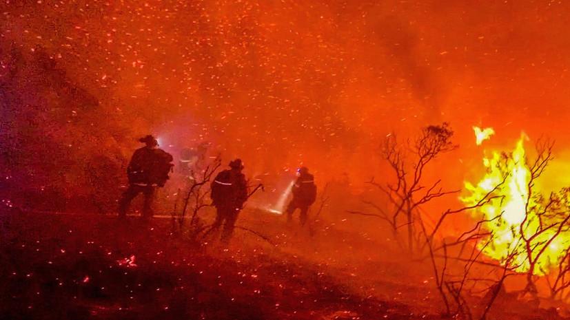 Шесть человек погибли из-за лесных пожаров в трёх американских штатах