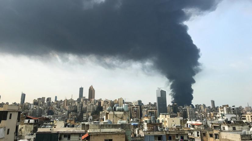 Президент Ливана неисключил преднамеренный поджог впорту Бейрута