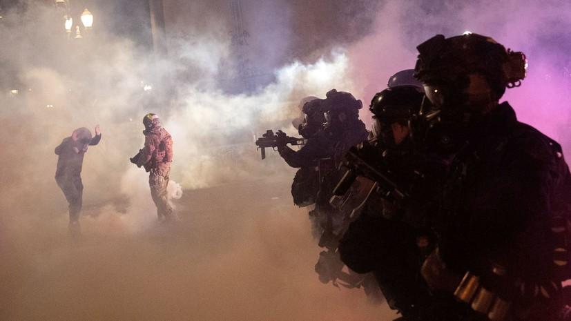 Мэр Портленда запретил использовать слезоточивый газ против толпы