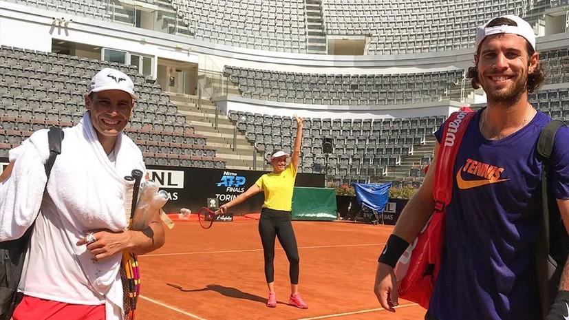 Хачанов потренировался с Надалем перед турниром ATP в Риме