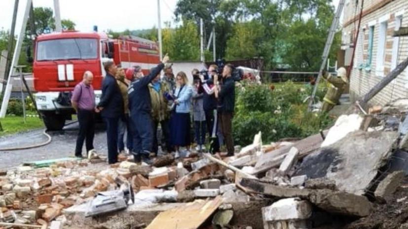 СК возбудил дело по факту обрушения перекрытия в доме в Приморье