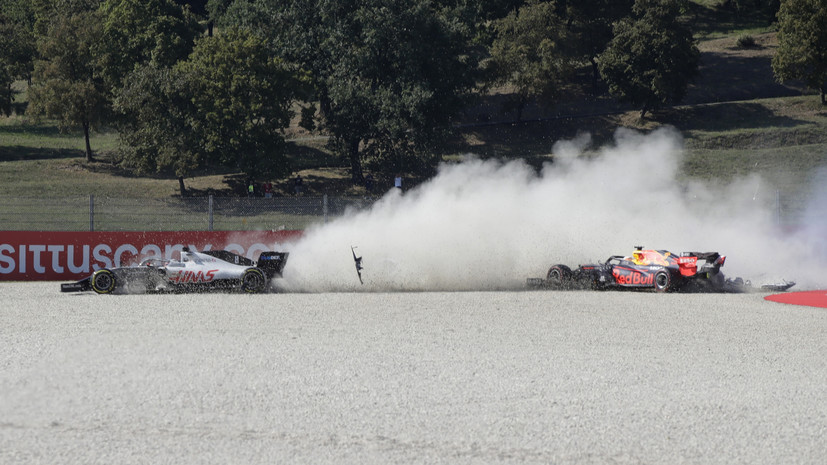 Гран-при Тосканы был остановлен после двух аварий