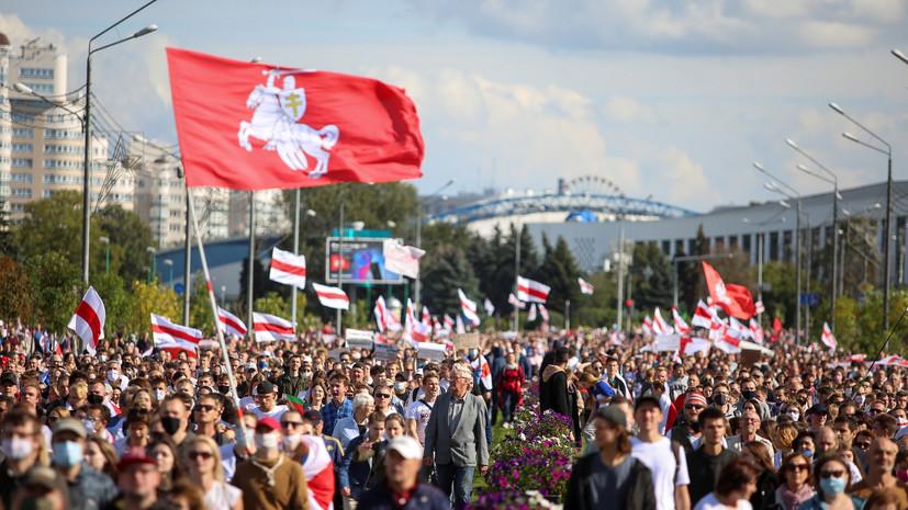 Протестующие в Минске подошли к резиденции Лукашенко