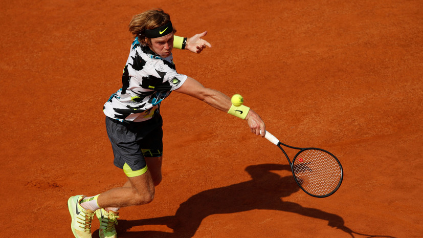Рублёв победил Багниса и вышел во второй круг турнира ATP в Риме