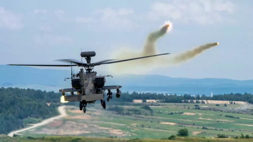 Вертолёт международной коалиции совершил аварийную посадку в Сирии