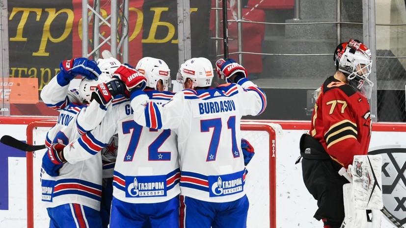 «Авангард» обыграл СКА в матче КХЛ