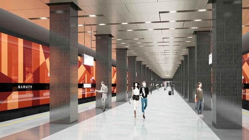 В Москве рассказали об оформлении станции «Мамыри» Коммунарской линии