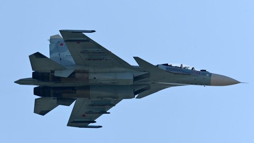 Истребитель Су-27 поднимался в воздух для перехвата британского разведчика