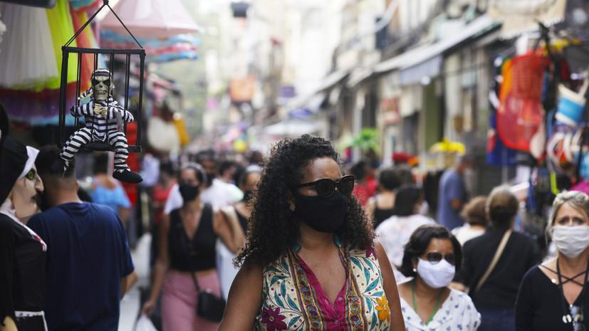 В Бразилии за сутки выявили более 36 тысяч случаев коронавируса