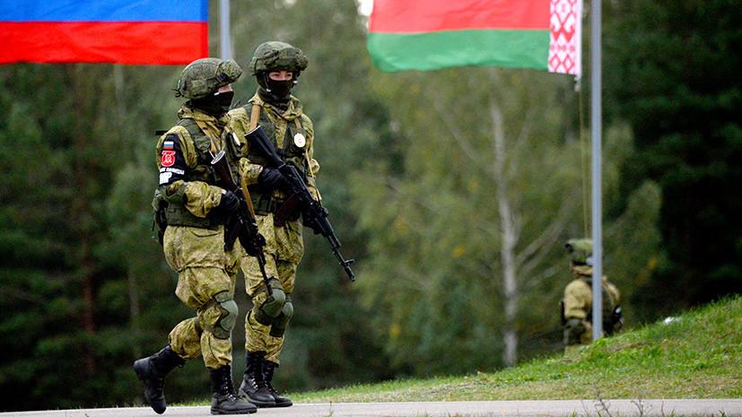 Российские и белорусские военные на учениях провели стрельбы