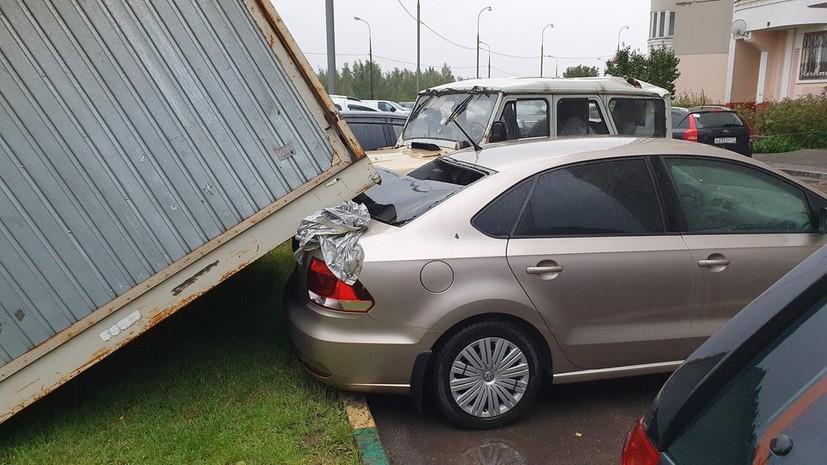 В Москве 42 автомобиля получили повреждения из-за непогоды
