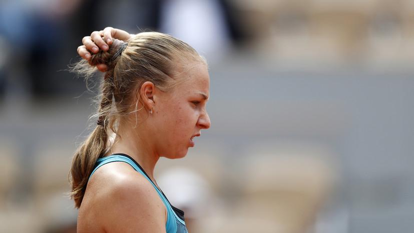 Блинкова уступила Плишковой в третьем круге турнира WTA в Риме