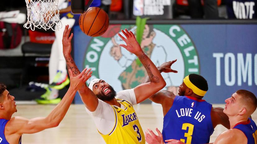 Дэвис повторил достижение О'Нила в первой игре финала НБА в Западной конференции