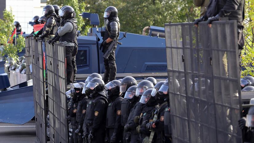 ОМОН выставил оцепление рядом с резиденцией Лукашенко