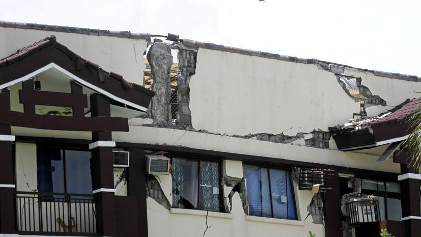Землетрясение магнитудой 5,8 зафиксировано на Филиппинах