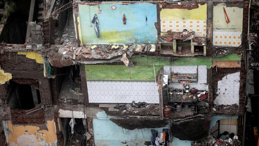 В Индии число жертв обрушения жилого дома достигло 39